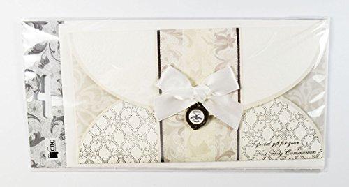 (Karte mit Umschlag für Geldgeschenke zur Erstkommunion. Luxuriöses Andenken.)