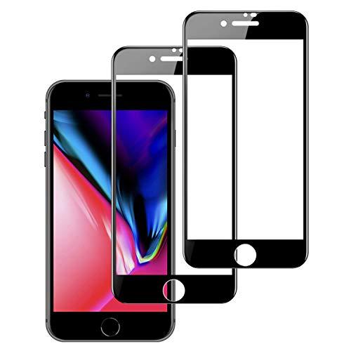 RHESHINE Verre Trempé pour iPhone 7/ iPhone 8, [ Pack de 2 ] Film Protection en Verre Trempé Protecteur Écran pour iPhone 7/ iPhone 8,Noir [9H, sans Bulles, Anti-Rayures, Anti-Oil, 3D-Touch]