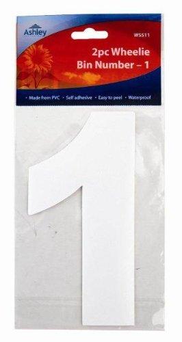 PinkWebShop Weiß Selbstklebende Mülltonnen Nummern 17Cm 4/Packung 0/1/2/ 3/4/5 /6 /7 /8 /9 - 1 -