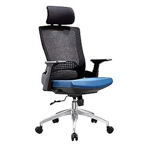 RUNXIAN Silla de ordenador ergonómico silla de oficina que compite con respaldo y asiento ajustable Altura de la silla reclinable con la almohadilla mecedora reclinable Silla de oficina almuerzo Reces