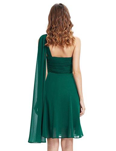 Ever Pretty Robe de Demoiselle d'honneur avec une ¨¦paule en fleur de volant 03537 Vert