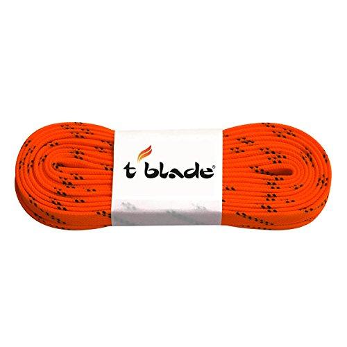 t blade Schnürriemen für Schlittschuhe Schnürsenkel tblade gewachst (neon orange)