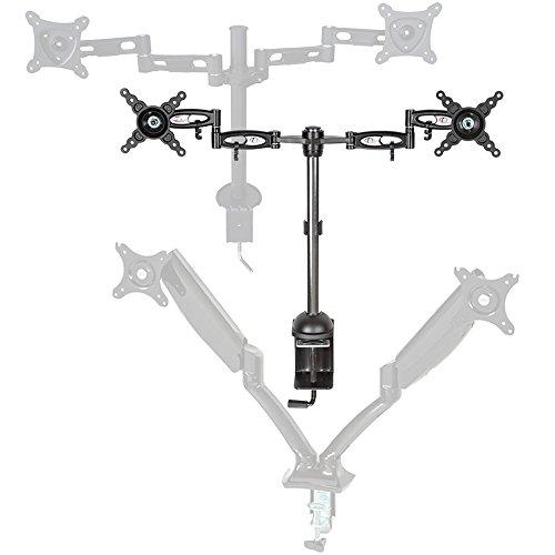 TecTake LED LCD soporte doble para monitor pantalla brazo del monitor inclinación...