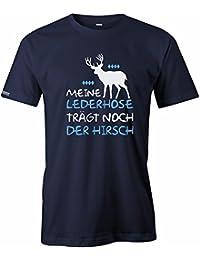 Meine Lederhose trägt noch der Hirsch - Oktoberfest - Herren T-Shirt