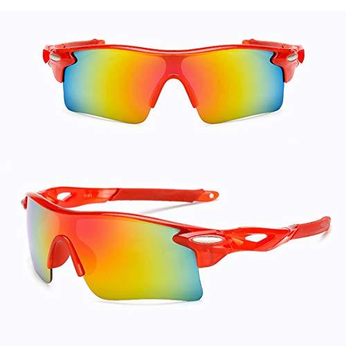 Yiph-Sunglass Sonnenbrillen Mode UV-Schutzbrille zum Reiten Fahren Angeln Golf Polarisierte Outdoor-Sportarten Radfahren Brillen Radfahren Sonnenbrillen (Farbe : Orange)