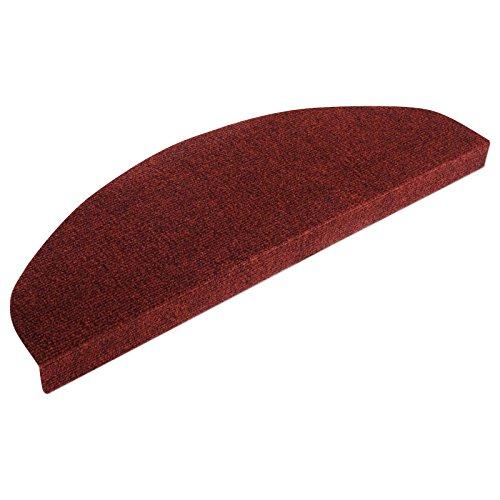 Casa pura copri gradini linea paris | per scale interne | antiscivolo | set da 15 | rosso | 22x65 cm| autoadesivo