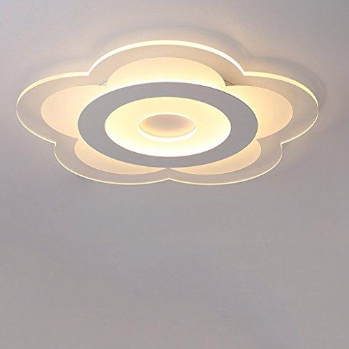 Sache Deckenleuchte LED Deckenleuchte Modernes, minimalistisches Kreative Remote Ultra-Thin Floral Warm romantische Hochzeit'S Zimmer Kinderzimmer Schlafzimmer Licht (Farbe: Warmweiß-62 Cm)