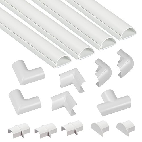 D-Line 3015KIT001 Multipack de Canaleta para Cableado, Blanco, 30x15mm (Mini), Set de...