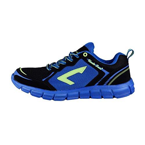 HSM Schuhmarketing , Chaussures de course pour homme Schwarz/Blau