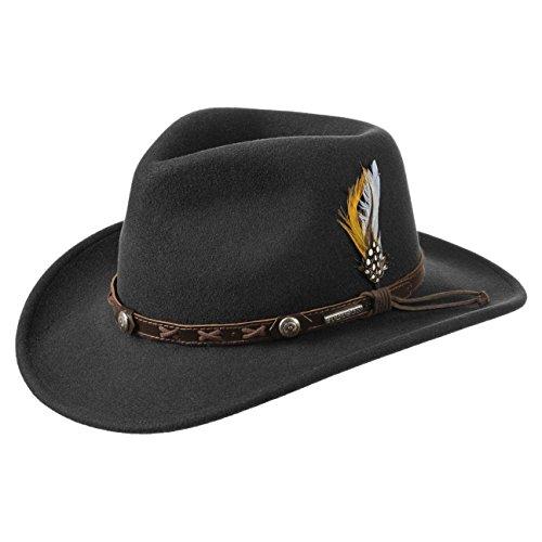 Stetson Chapeau Vail Outdoor VitaFelt hiver chapeaux dŽexterieur (XL (60-61 cm) - noir)