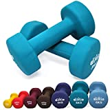 diMio 5,0 kg Neopren Gymnastik Hanteln im Doppelpack, Soft-Grip, für Fitness, Ausdauertraining und...