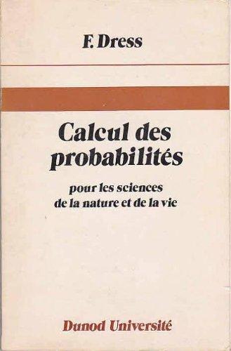 Calcul des probabilits pour les sciences de la nature et de la vie