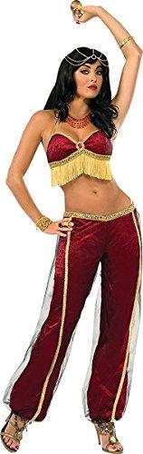 tüm Harem Bauch Arabische Prinzessin Rubin TÄNZER- Kostüm Standardgröße ()