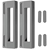 Spares2go tirador de puerta para Zanussi Nevera Congelador (Pack de 2, 190mm, Gris/Plata)