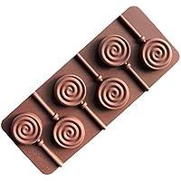 Zerama 6 Rejas Bricolaje Donut Animal Garra Cara de la Sonrisa de la Margarita Lollipop del Molde del Chocolate Molde del Caramelo Postre de Silicona