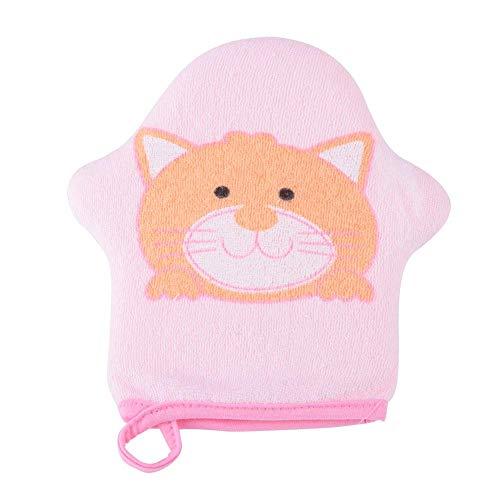 Badeschwamm Badeschwamm Baby Cartoon Star Modell Weiche Baumwolle Baby Shower Sponge Kids Badeschwamm Baumwolle Scrubber für Kinder und Kleinkinder (Katze) , Kleinkind, Katze