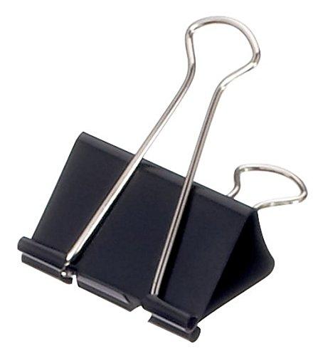 Preisvergleich Produktbild Maul 2141990Posaune–Büroklammern (schwarz, 12Stück (S))