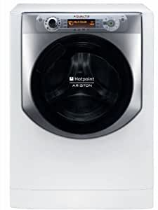 Hotpoint AQ94D 49D IT freestanding Front-load 9kg 1400RPM A+++-10% Silver,White washing machine - washing machines (freestanding, Front-load, A+++-10%, B, Silver, White, LCD)