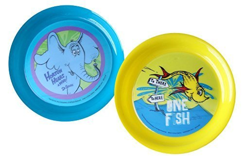 Dr. Seuss Lenticular Plastic Plates -Set of 2 (1) One Fish, Two Fish (1) Horton Hears a Who! by Vandor, LLC