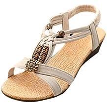 966d4a25153cb UFACE Frauen Sandalen Frauen Casual Peep-Toe Flache Schnalle Schuhe  römischen Sommer Sandalen