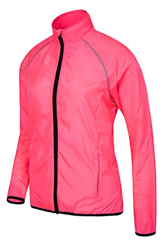 Mountain Warehouse G-Force Womens Jacket - High Viz, Durable, Water Resistant, Underarm Air Vents With Pockets - Ideal For Everyday Use, Cycling & Walking