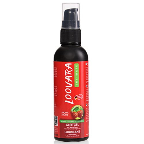 Loovara gel lubricante 100ml en base agua de aloe vera con aroma natural de fresa