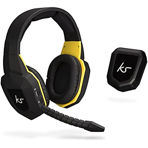 KitSound Storm Wireless Gaming Auriculares/auricular con micrófono desmontable Compatible con XBOX 360/Playstation 4/Playstation 3/PC/smartphones y tablets, color negro y