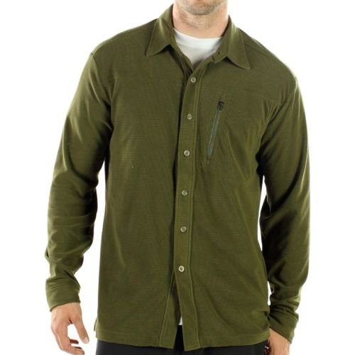exofficio Herren tandiggity Fleece Long Sleeve Shirt Braun (Bracken)