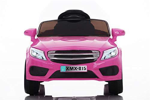 Babycar Auto per Bambini Macchina Elettrica per Bambini Babyfun ( Rosa ) Batteria 12 Volt con Telecomando 2.4 GHz Porte Apribili con MP3 e Chiav