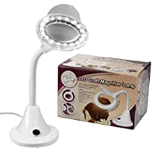 Cassie Craft LED lámpara con lupa, marrón