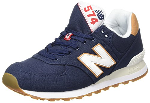 New Balance Herren ML574Y Yatch Pack Sneaker, Blau (ML574YLC), 45.5 EU - New Balance-mens Turnschuhe