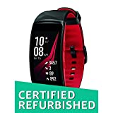 (CERTIFIED REFURBISHED) Samsung Gear Fit2 Pro Smart Fitness Band (Large), Diamond Red