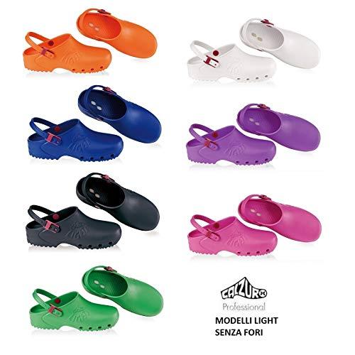 Calzuro Health Clogs Light Professional EC White Green Lilac Pink Orange  Blue Black 21a041d838e