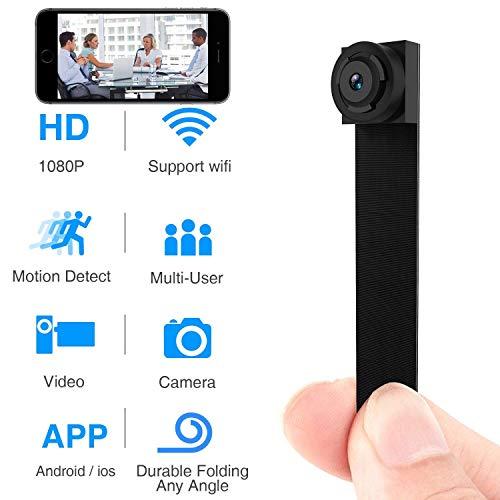 Bblank Mini Spy Versteckte Kamera, Mit Bewegungserkennung, Kompakter Indoor/Outdoor-Camcorder 1080P HD Home Sicherheits Überwachungskamera