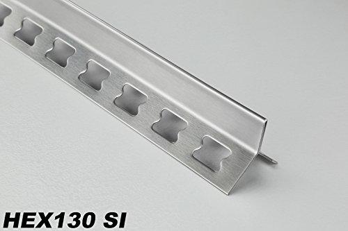 2 Meter Edelstahl Y-Form Kantenprofil Fliesenleiste Kantenschutzprofil, HEX130, Kantenhöhe:10mm