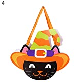 Yimosecoxiang Special Festival bietet Halloween Kürbis Lächeln Tasche Kinder Candy Bag Handtasche Urlaub Party Decor, Papier, 4