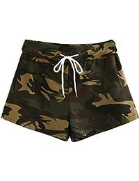 AIMEE7 Pantalones Cortos Mujer Verano Pantalones Cortos Mujer Casual  Pantalones Cortos Camuflaje Mujer Pantalones Anchos Mujer 004d57cd1451