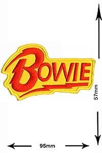 Patches - Bowie - David Bowie - MusicPatches - hot iron - Applique embroidery - Écusson brodé