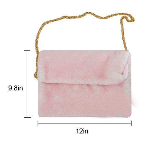 Millya, Borsa a tracolla donna, Grey (Grigio) - bb-01598-01C Pink