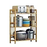 ZWJLIZI Küchenablage Regal Regalablage aussortieren Haushaltsbambus 3. Stock (größe : 70CM)