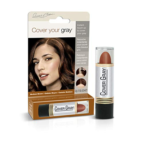 Cover Your Gray Hair Color Stick Medium Brown (6er Pack) (Haarfarbe; Highlights) -