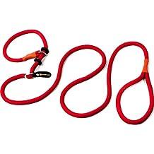 Retriever Correa | Correa y collar ligero en uno (200 cm) | Moxon cuerda para agility, de entrenamiento y adiestramiento