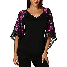 Familizo Elegante Camisetas Blusa Verano Tops Sin Mujer Fiesta Algodón WdxBrCoe