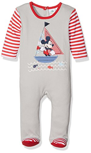 Disney, pagliaccetto a maniche lunghe con topolino per bambini grau 3 71 cm (9 mesi)