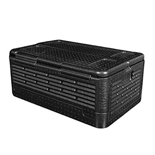 Funnyrunstore 35L Portátil de Tamaño Refrigerador del Coche Auto Interior Nevera Bebida Comida Enfriador Caja más Caliente para el Coche Acampar al Aire Libre Picnic (Negro)