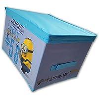 Preisvergleich für Minions Deko Box Eckig aus Stoff Spielzeug Kiste Aufbewahrungsbox mit Deckel
