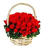 GlobalFlowerDelivery Fresh Red Rose Bouquet (Bunch of 50)