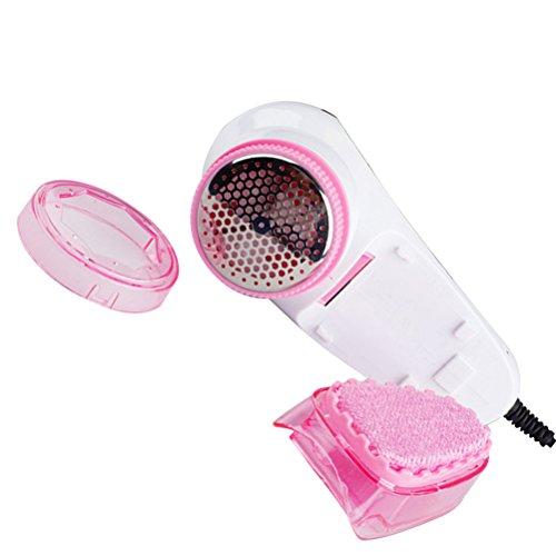 OUNONA Tragbare elektrische wiederaufladbare Fusselentferner Kleidung Stoff Pullover Rasierer Teppich Pillen Fuzz Fluff Remover (Pink) (Wiederaufladbare Lint Remover)