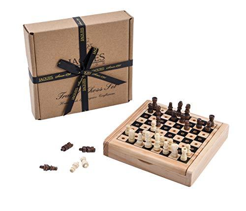 Juego de ajedrez de Viaje de Jaques - Juego de ajedrez auténtico de Jaques Tallado a Mano - Juego de ajedrez de Calidad Desde 1795