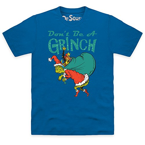 Official The Grinch Don't Be A Grinch T-shirt, Uomo Blu royal